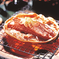 Shell-baked crab