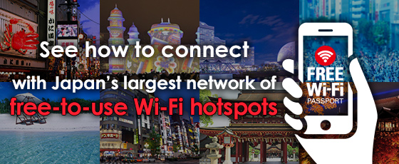 See how to connect with Japan's largest network of free-to-use Wi-Fi hotspots