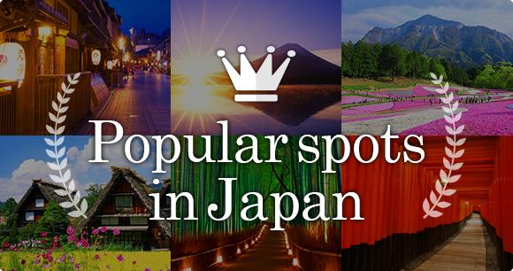 Popular spots in Japan