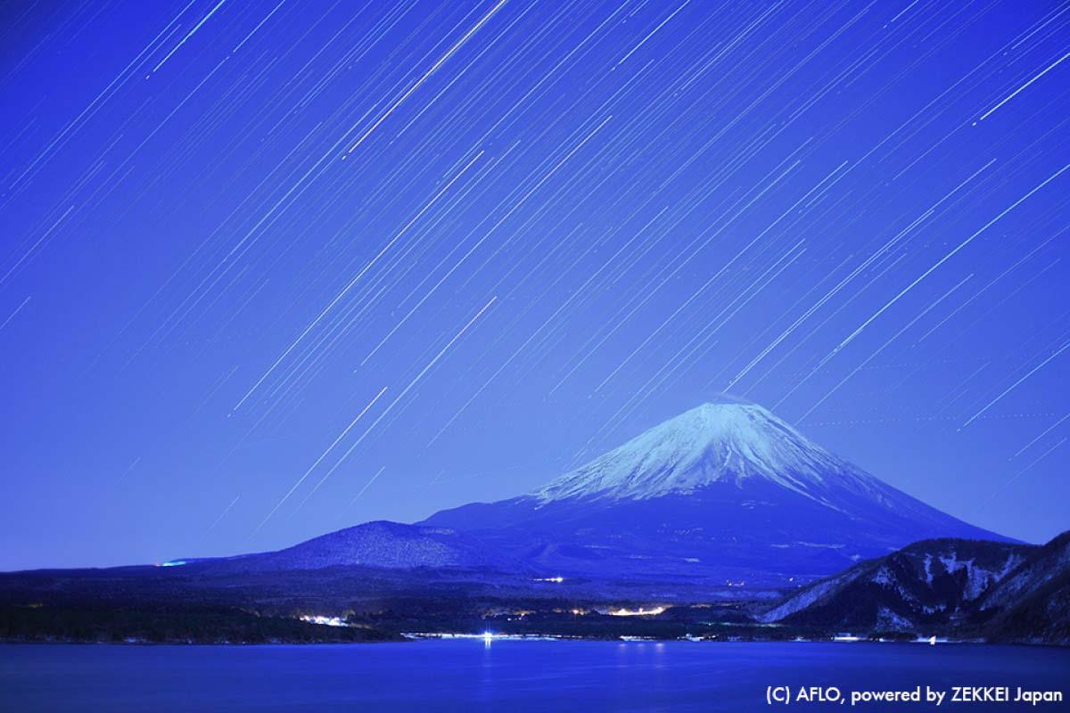 Stars Mt Fuji Japan