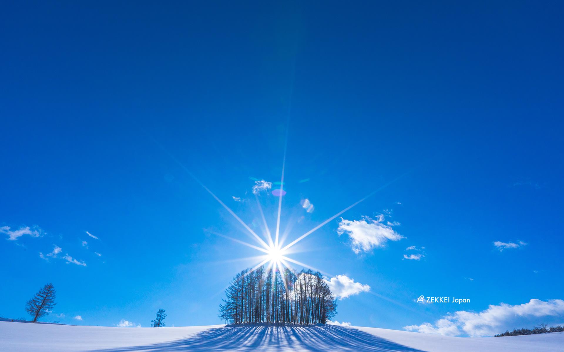 絶景壁紙 白銀の美瑛の壁紙をあなたの手元に Zekkei Japan