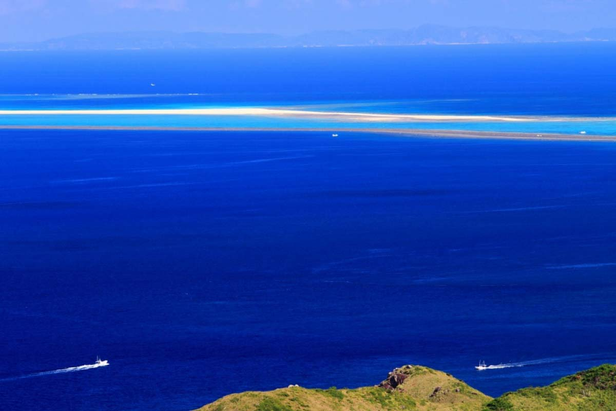 沖縄 はての浜 海 無人島