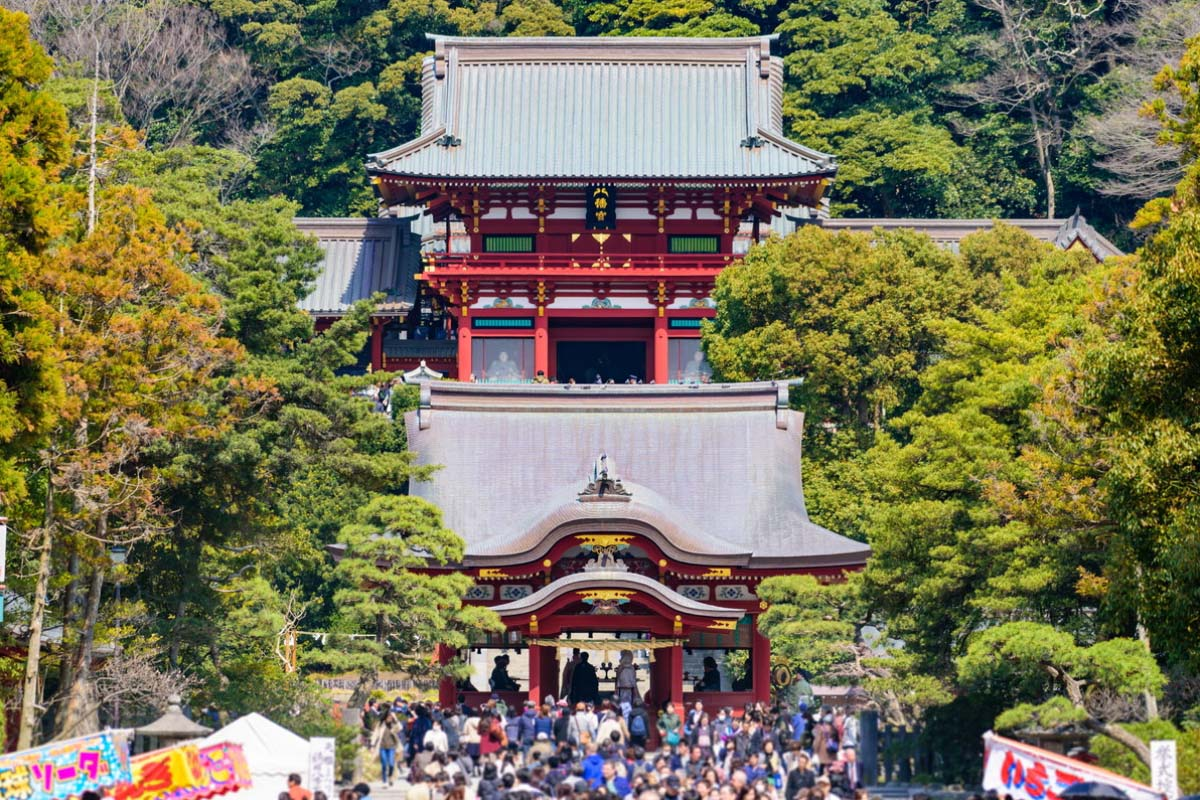初詣 元日 鶴岡八幡宮
