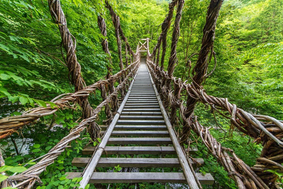 かずら橋 日本三大奇橋 橋