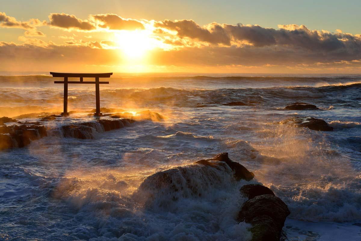 日本 旅游 神矶的鸟居